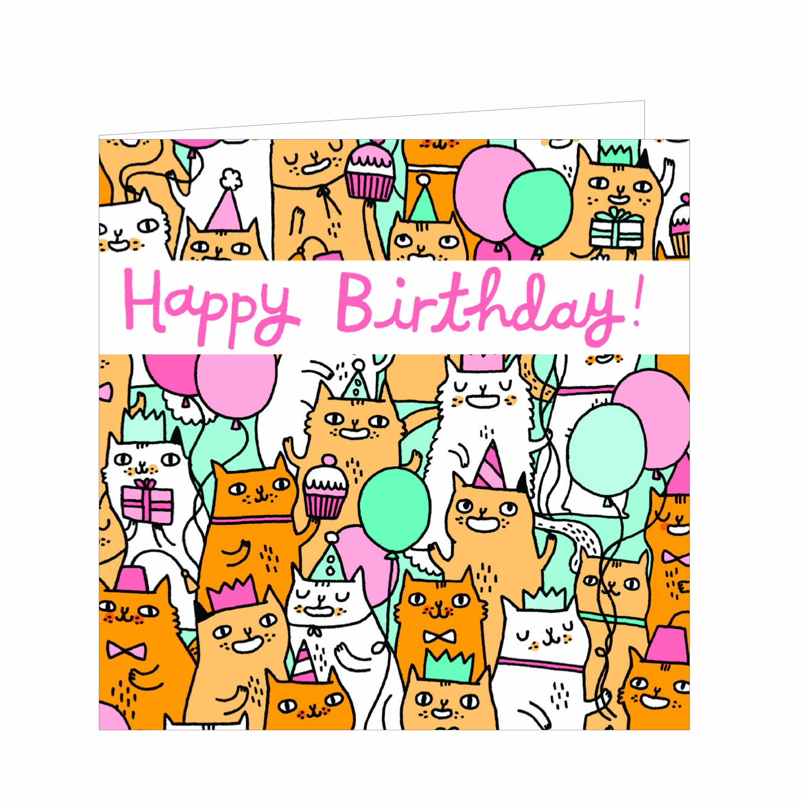 Birthday Cats: GreenGift-Notes -- small gift encolsure cards printed on uncoated & ecologically friendly paper pdf epub