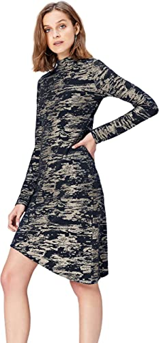 TALLA 44 (Talla del Fabricante: X-Large). Marca Amazon - find. Vestido Camuflaje para Mujer Multicolor (Multi) 44 (Talla del fabricante: X-Large)