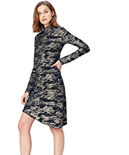 FIND Women's Dress Camouflage High Neck, Multicoloured (Multi), 8 (Manufacturer Size: X-Small)