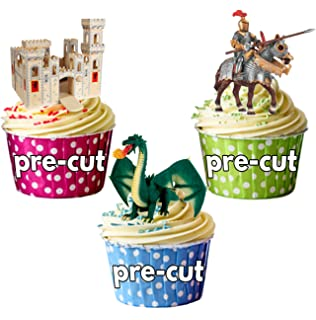 24 icing cake toppers decorations fairy bun ND3 colourful unicorns cute