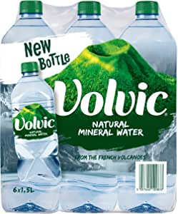 Volvic Mineral Water, 1.5 Liter (Pack of 6)