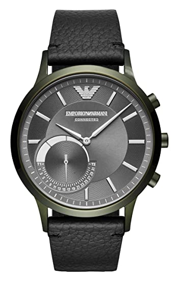 Emporio Armani Reloj Analogico para Hombre de Cuarzo con Correa en Cuero ART3021
