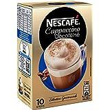 NesCafé Cappuccino DéCaféiné - Café Soluble - Boîte de 10 Sticks