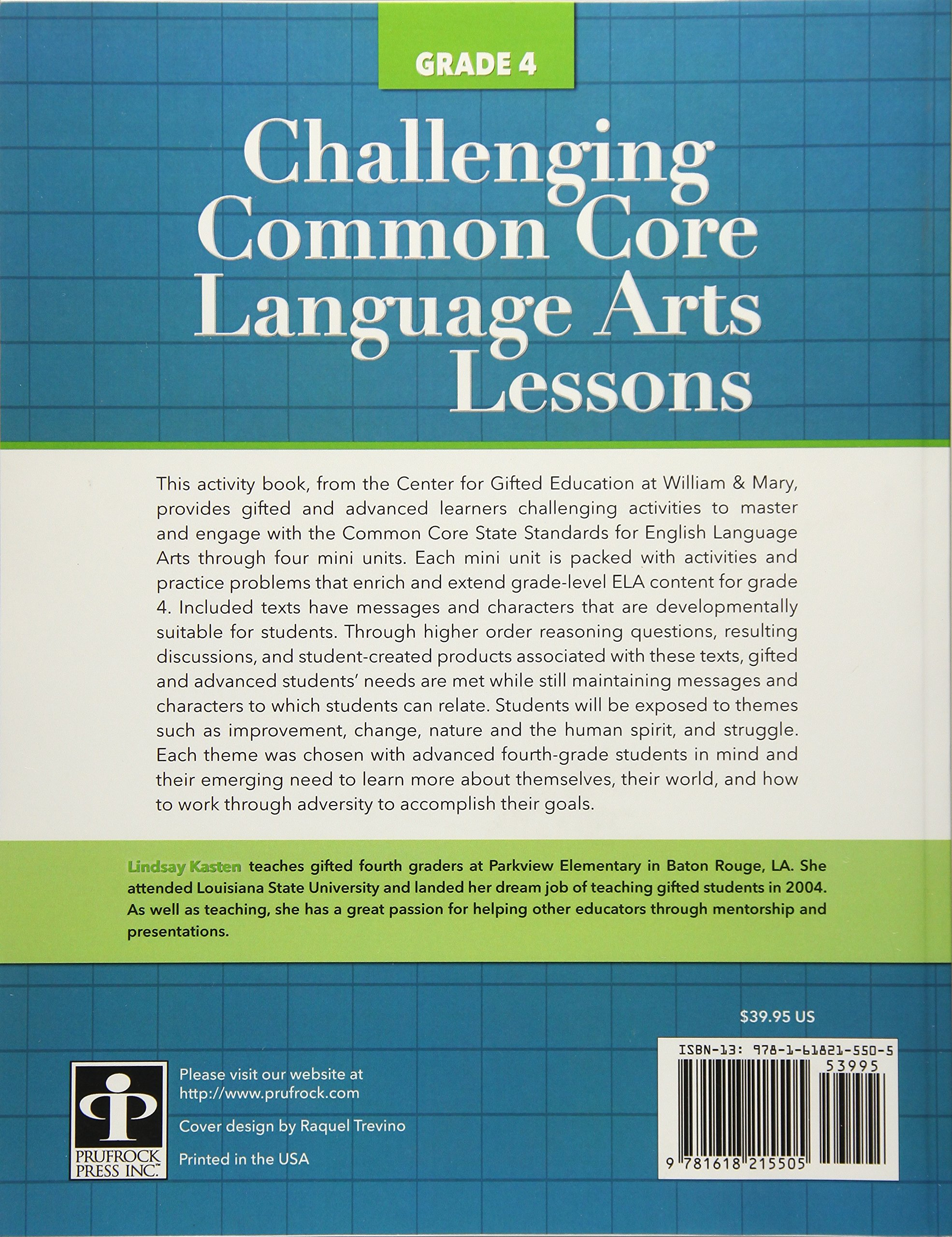 Amazon.com: Challenging Common Core Language Arts Lessons (Grade 4 ...