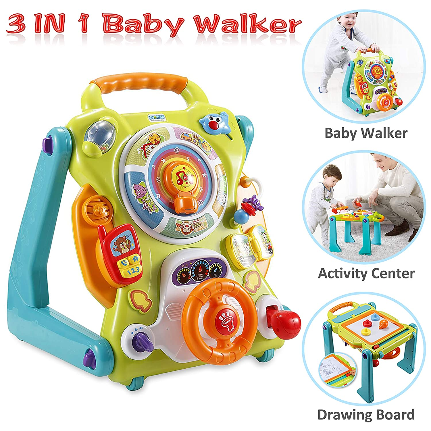 Amazon.com : NuoPeng 3 in 1 Baby Sit-to-Stand Walker ...