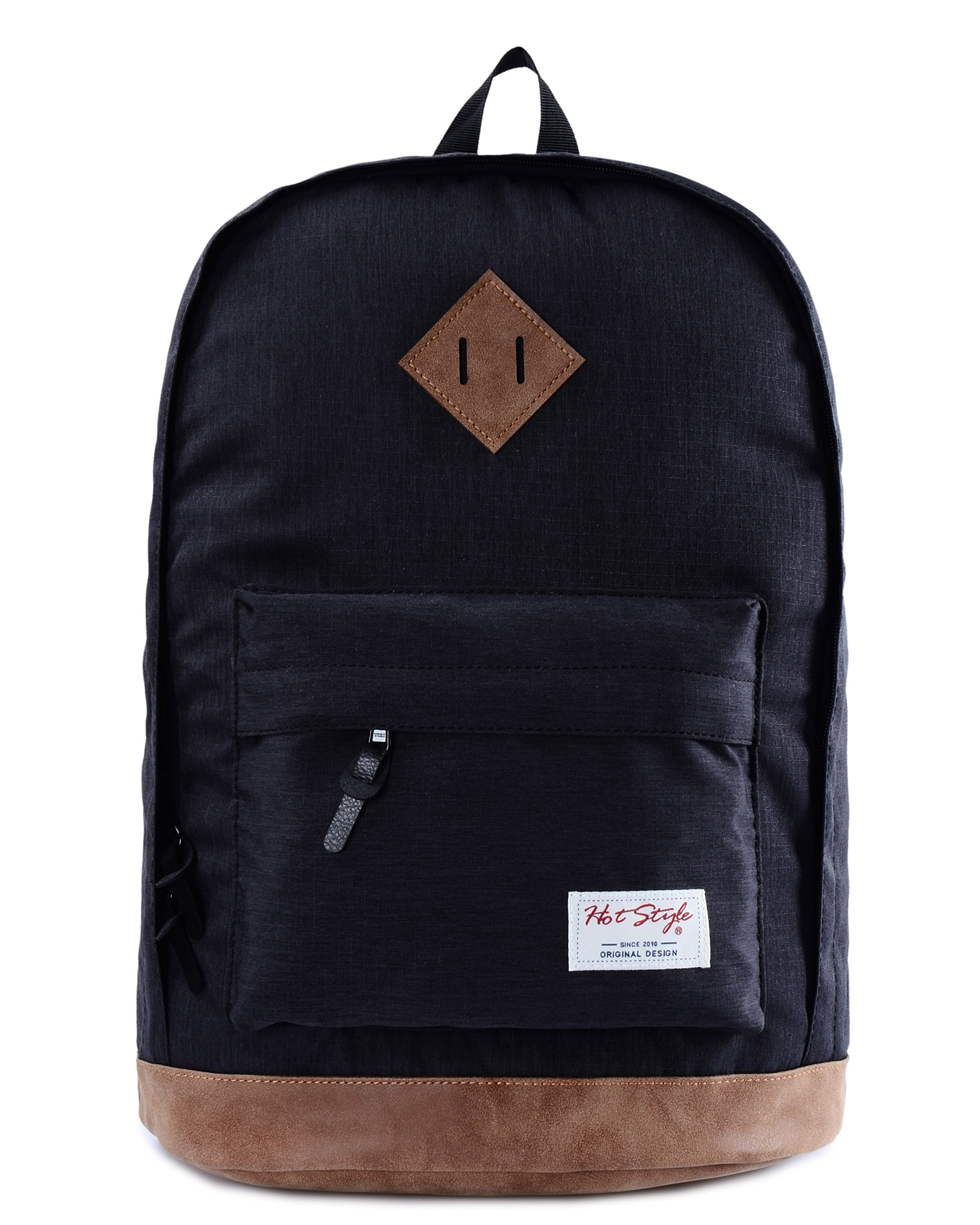 936Plus College School Backpack Travel Rucksack | Fits 15.6'' Laptop | 18''x12''x6'' | Black by hotstyle (Image #2)