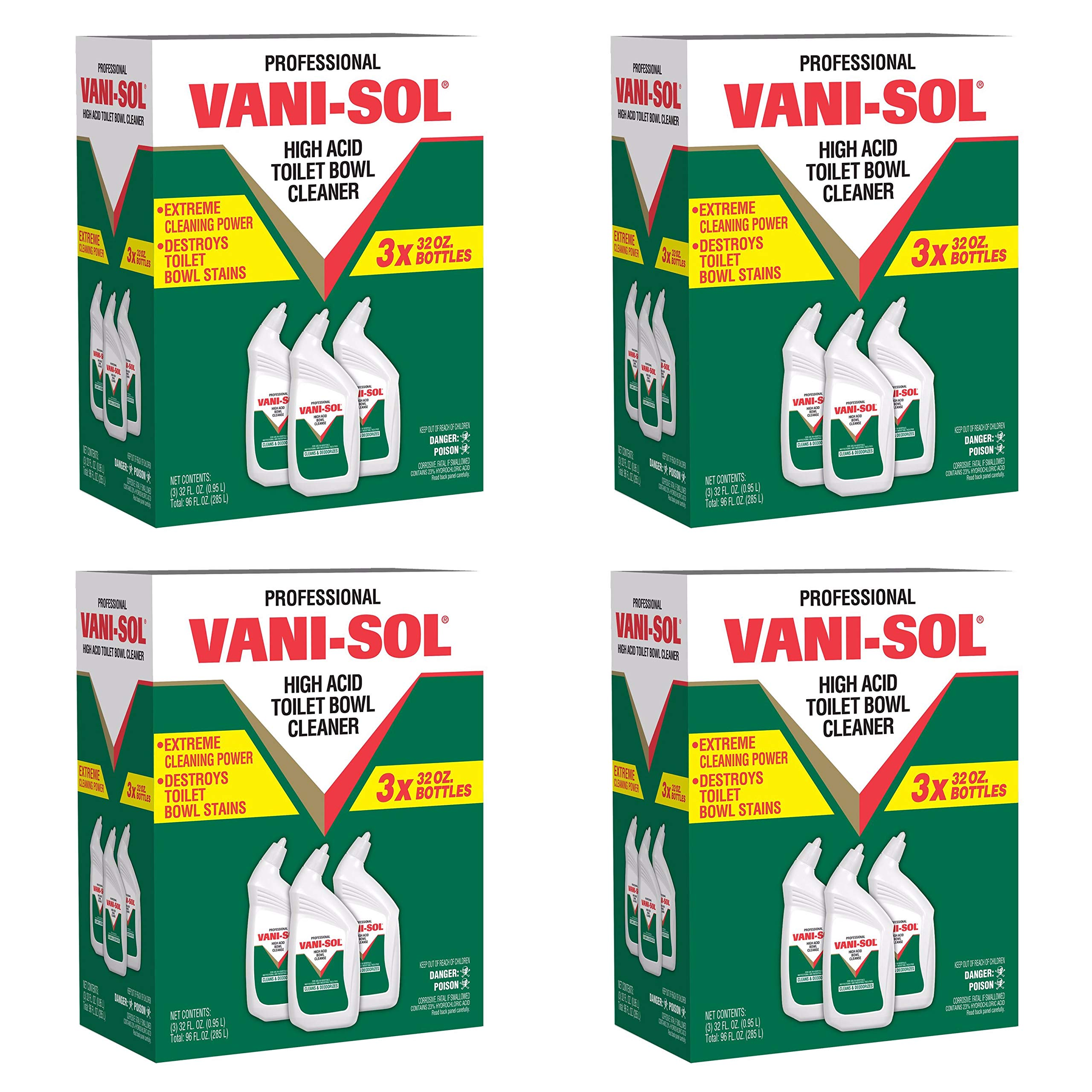 Professional VANI-SOL High Acid Bowl Cleanser, 32 oz Bottles - Includes 12 per case.