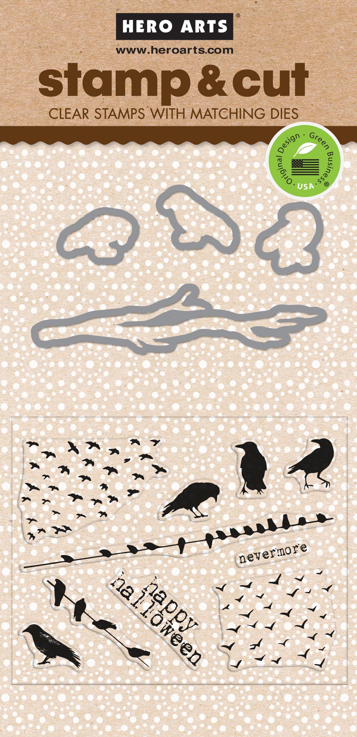 Hero Arts DC188 The Birds Stamp & Cut Card Making Kit