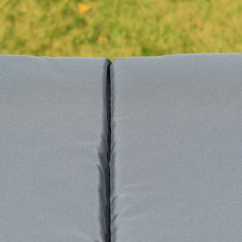Ampel 24 Outdoor Gartenstuhlauflage für für für Sonnenliegen 3-geteilt, Polsterauflage gesamt ca. 198x60 cm, Polster ca. 5 cm dick, Sitzauflagen-Bezug grau 2eed2f