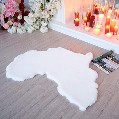 Africa Map Faux Fur Rug