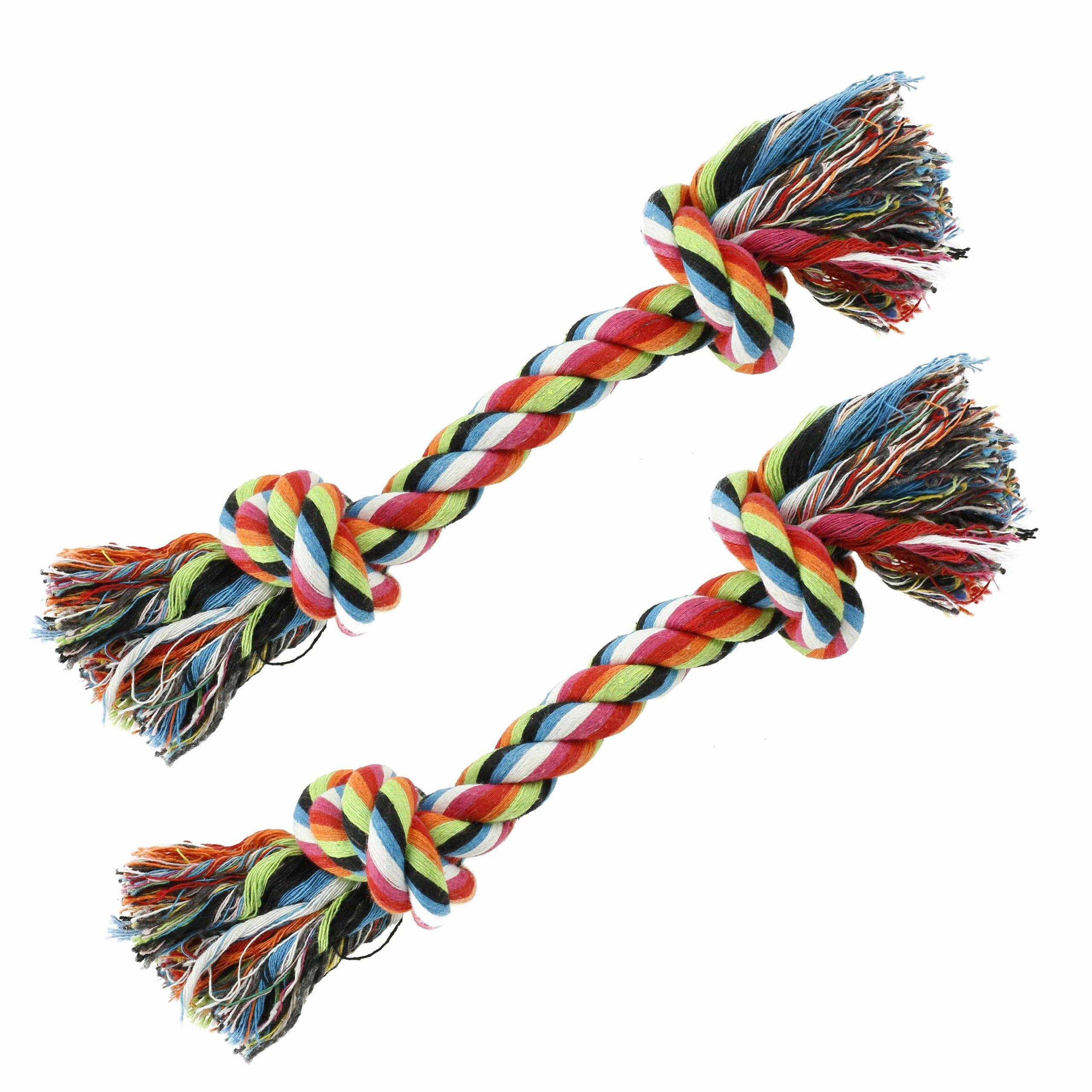 Set of 2 Cotton Dog Rope Toys - Great for Tug-o-war or Fetch! by DogToys Brand