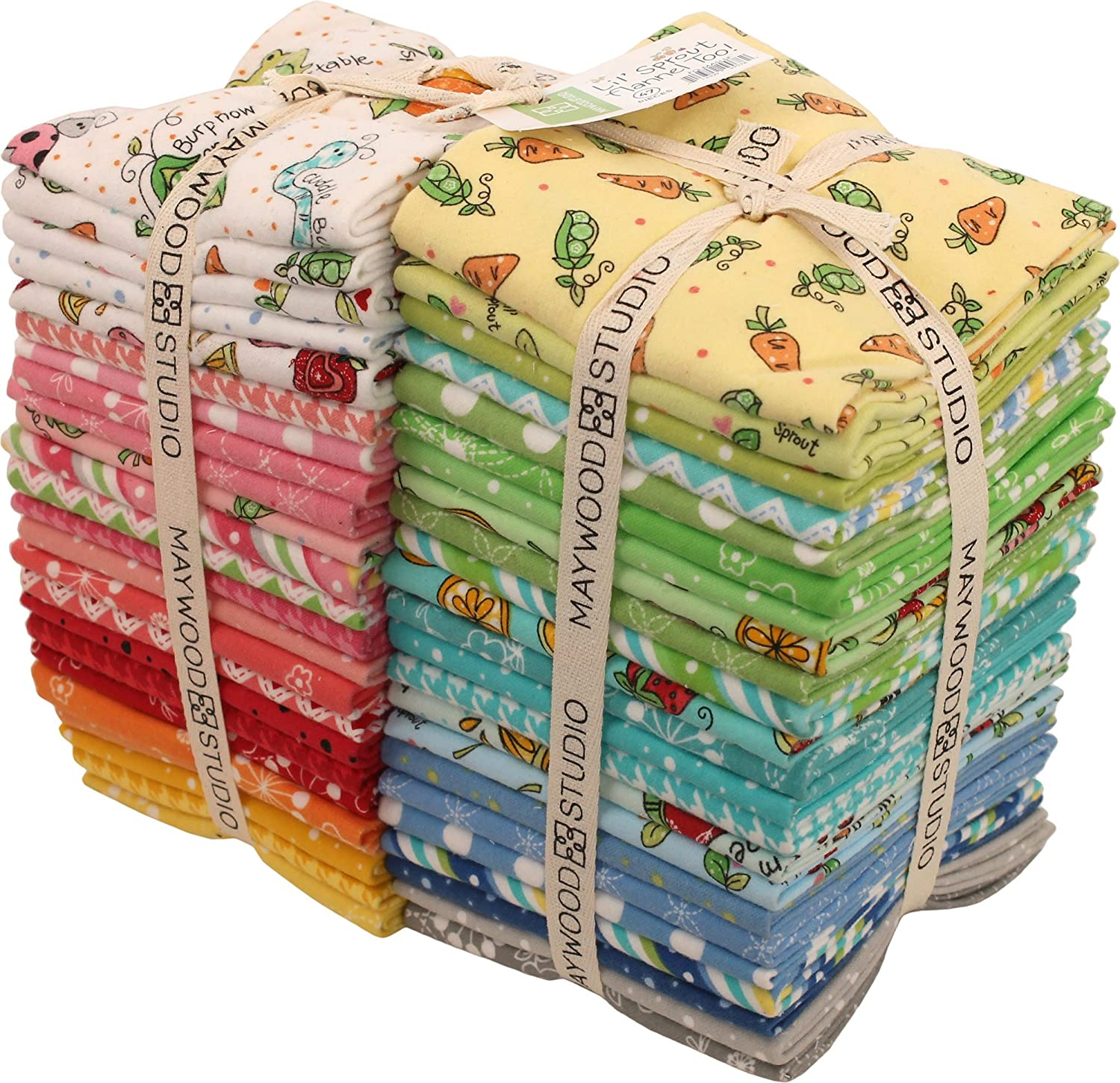 Kim Christopherson Lil' Sprout Flannel Too 47 Fat Quarters Maywood Studio