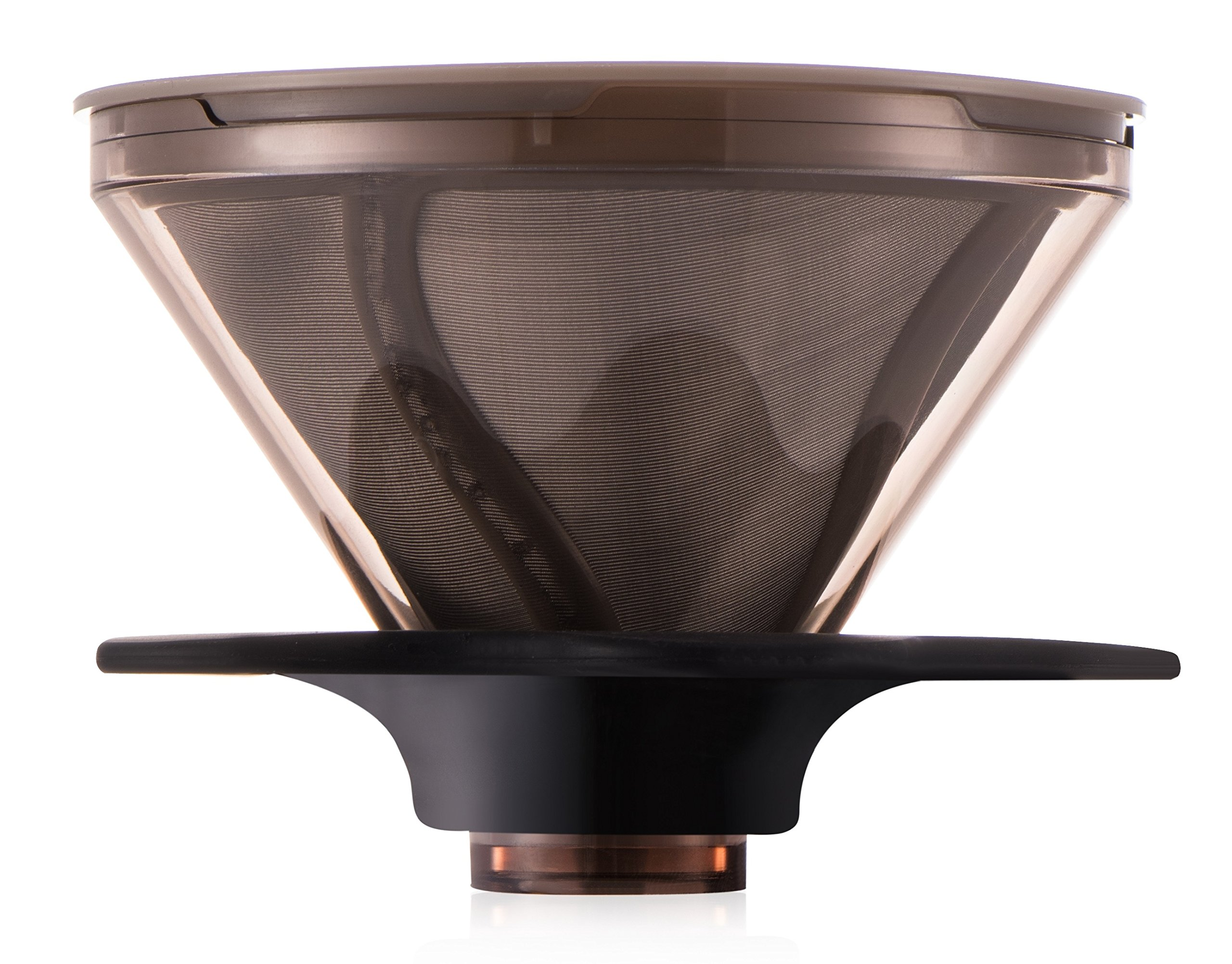 Diguo Clever Coffee Immersion Dripper with Paperless 18/8 Stainless Steel Permanent Filter, BPA-Free, Immersion Coffee and Tea, Making Good Coffee is Never Easier.