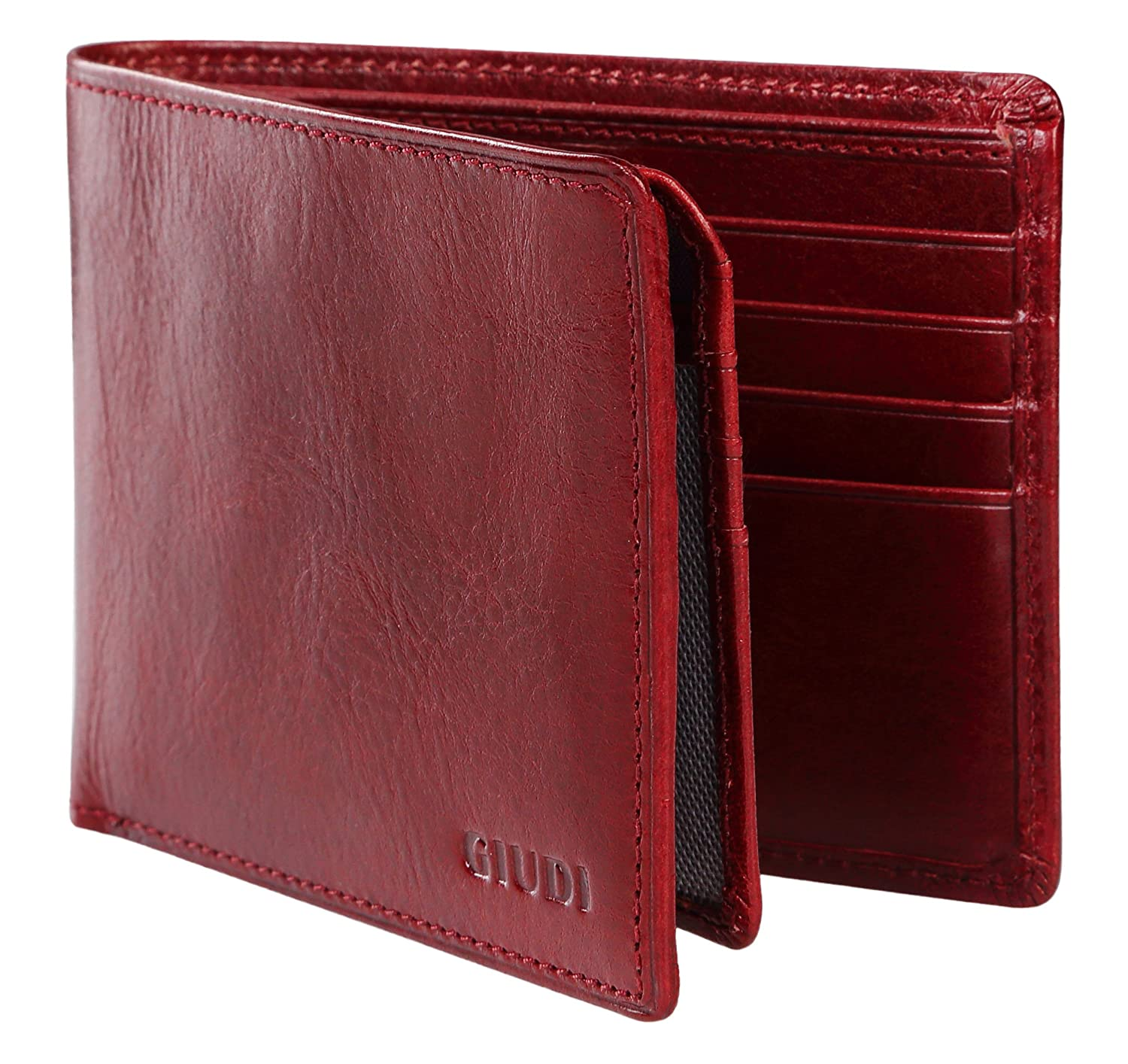 1d4ee5967627 Giudi Deluxe Comfortable Bifold Men s Wallet Made in Italy – 12 Business  Credit Card Holder – ID Window - Soft Touch Genuine Cow Leather - Excellent  Gift in ...