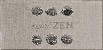 Tapis Deco Tapis Imprime Esprit Zen Polyamide Latex 115 X 57 Cm