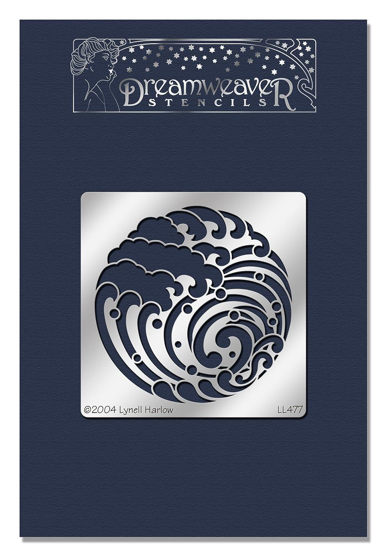 Stampendous DWLL477 Dreamweaver Stencil, Wave Crest