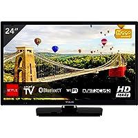 Hitachi 24HE2000 - Televisor de 24 Pulgadas, HD-Ready, Bluetooth, Wifi, USB, HDMI, LED, Negro