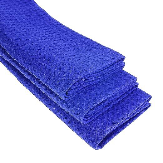 3 x - Trapo/Paño de cocina y gamuza de algodón 100% Suela de piqué en azul: Amazon.es: Hogar
