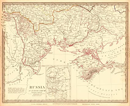 Amazon.com: Historic Map | 1838 Russia in Europe Part VIII | Society ...