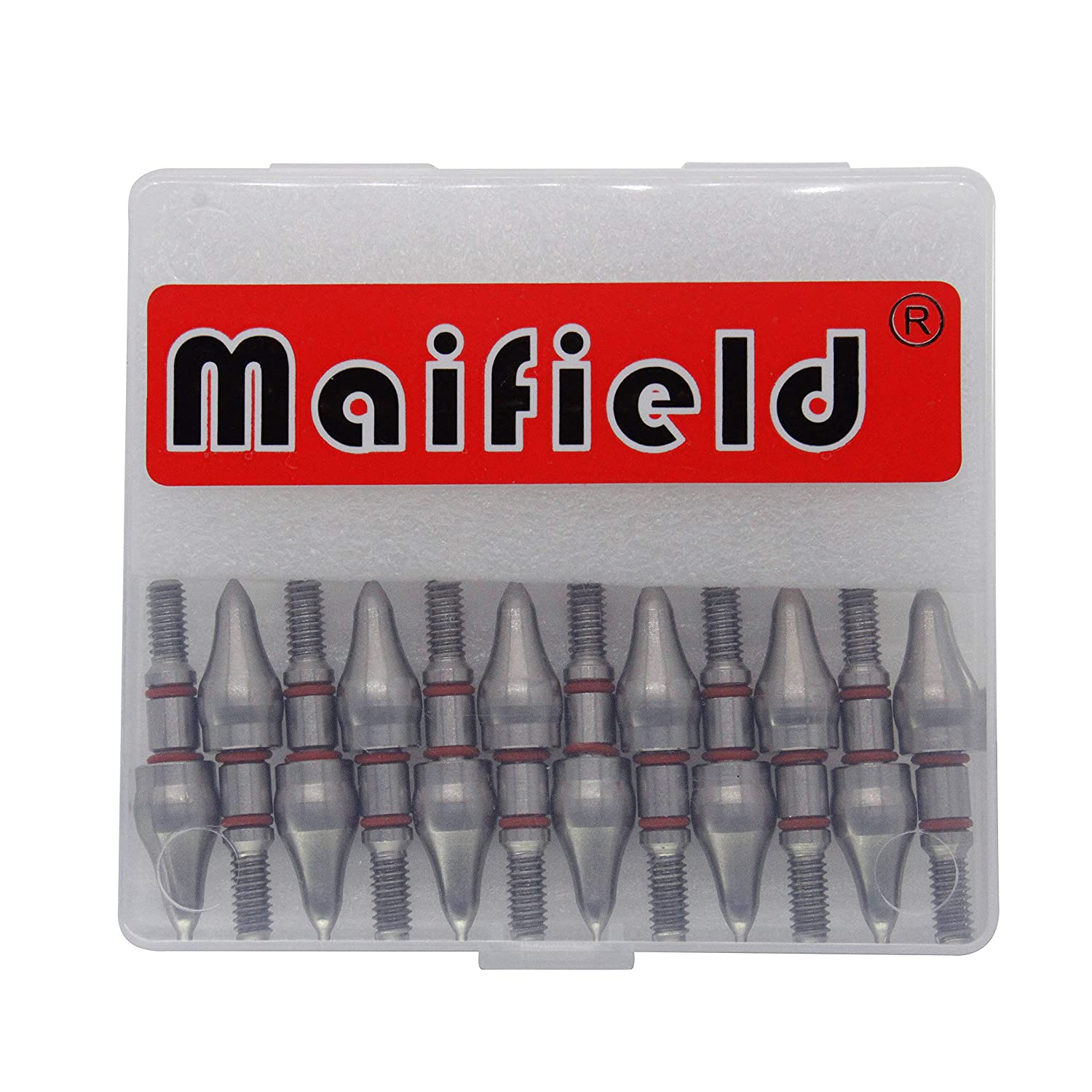 Easy Pull Various Outside Diameter,85//100//125//150 Grains,Screw in Archery Field Tips Maifield Stainless Steel Archery Field Points