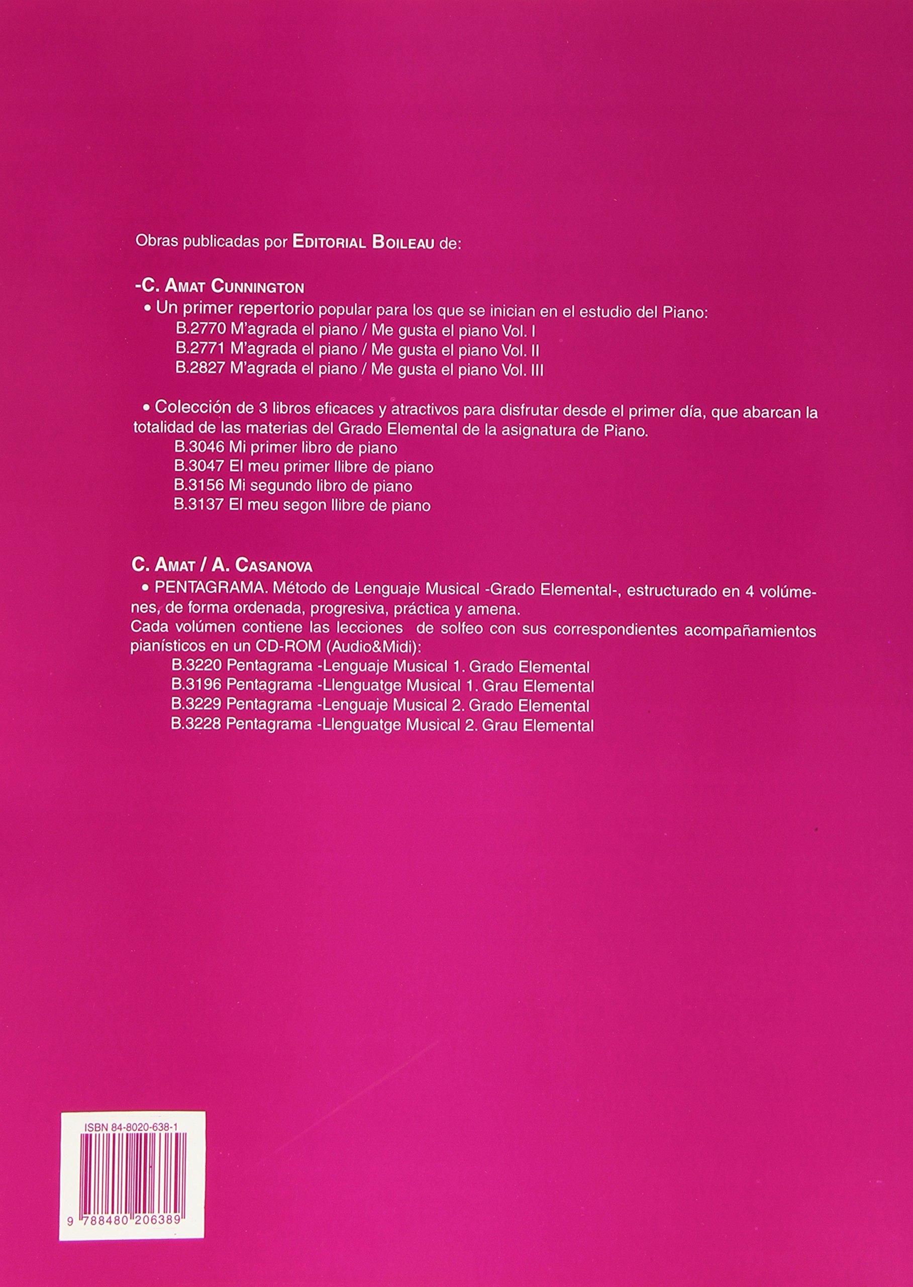 Magrada el piano/Me gusta el piano 1: Amazon.es: Carmen AMAT CUNNINGTON: Libros