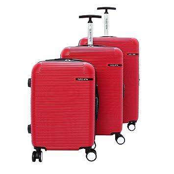 Juegos de maletas de equipaje pequeño-medio-grande Guido rojo del recorrido del color Vietri: Amazon.es: Equipaje