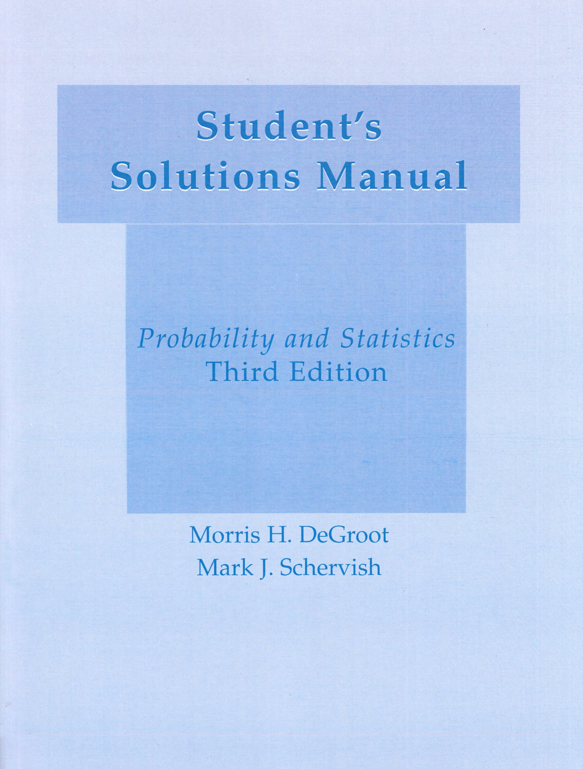 student solutions manual for probability and statistics amazon co rh amazon co uk Instructor Manual Template Procedure Manual