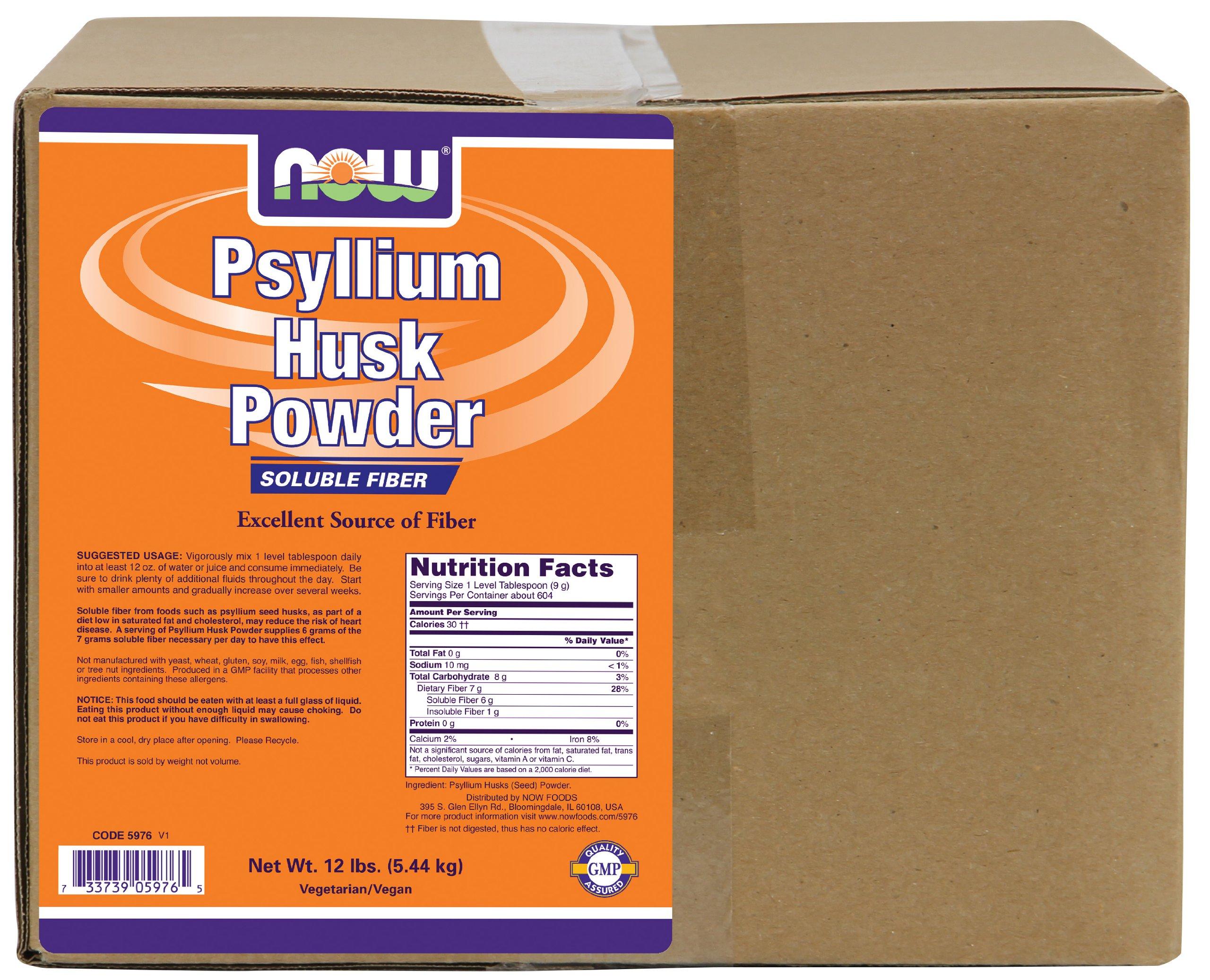 NOW Foods Psyllium Husk Powder, 12 Pound
