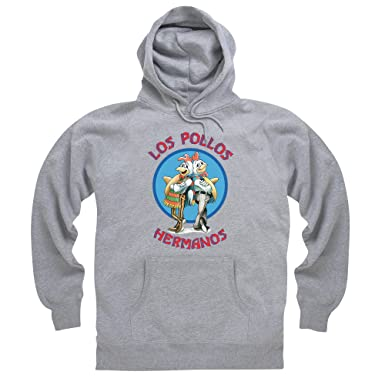 Official Breaking Bad - Los Pollos Hermanos Sudadera con capucha, Para hombre, Gris jaspeado, S: Amazon.es: Ropa y accesorios