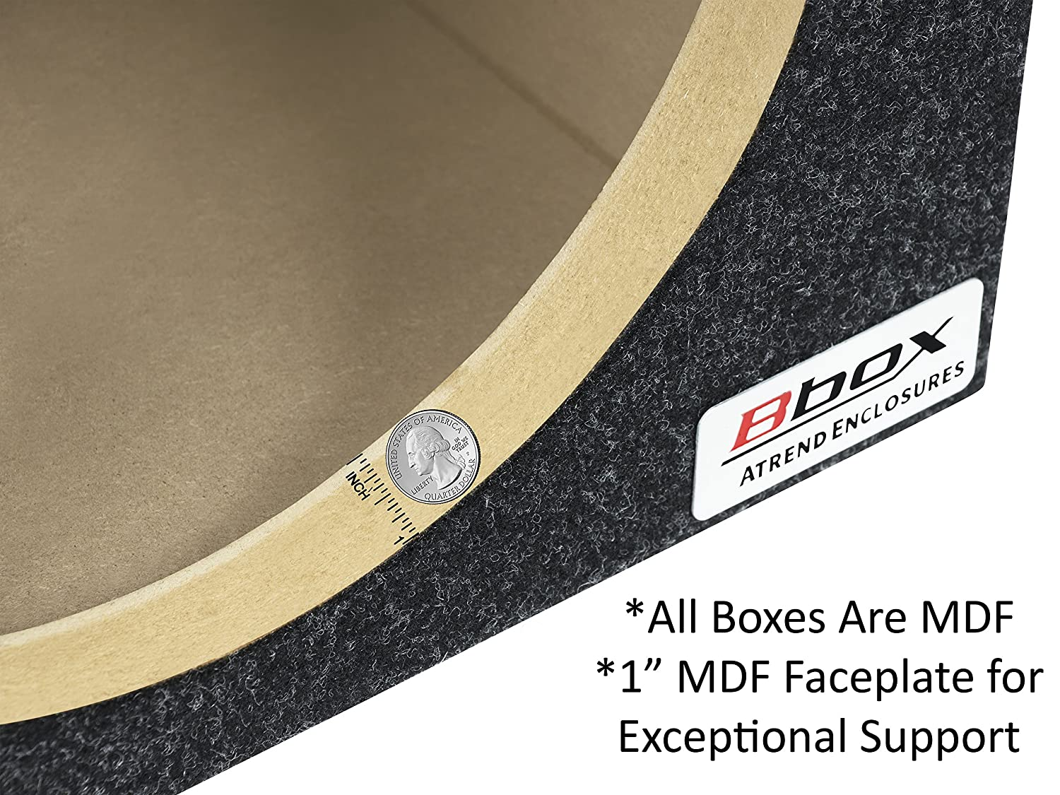 BBox E15SV Single 15 Vented Carpeted Subwoofer Enclosure ATREND