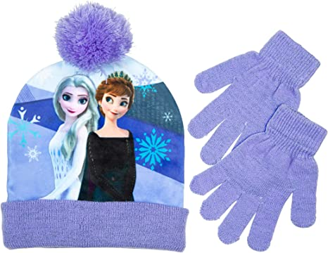 Türkis NEU OVP Winterset Mütze /& Schal Lila u Disney Frozen Eiskönigin 2tlg
