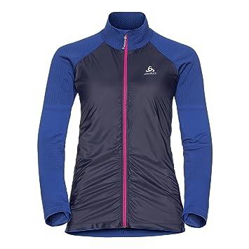 Odlo Jacket Velocity Element Chaqueta, Primavera/Verano, Mujer, Color Lapis Blue -