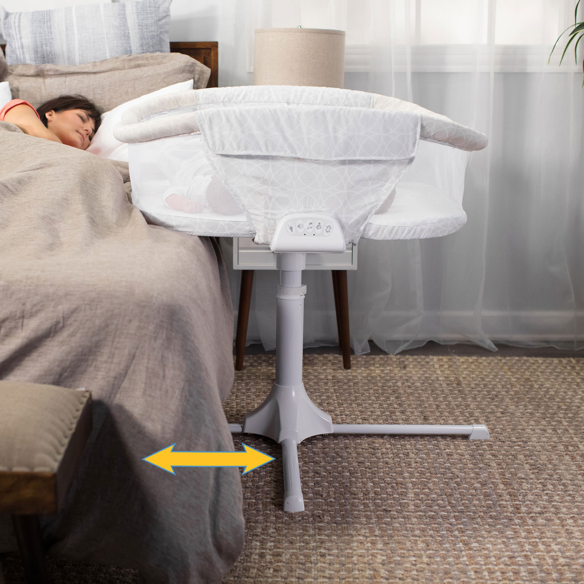 HALO Bassinest Twin Sleeper Double Bassinet – Premiere Series, Sand Circle by Halo (Image #5)