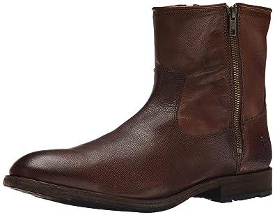 FRYE Men's Ethan Double Zip Boot, Dark Brown, ...
