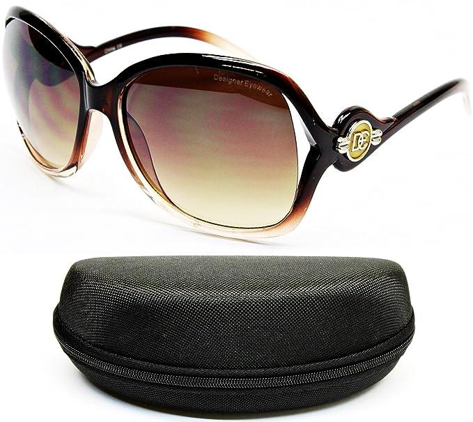 50df50375c8 Amazon.com  D5021-CC Designer Eyewear Oversized Octagon Sunglasses ...