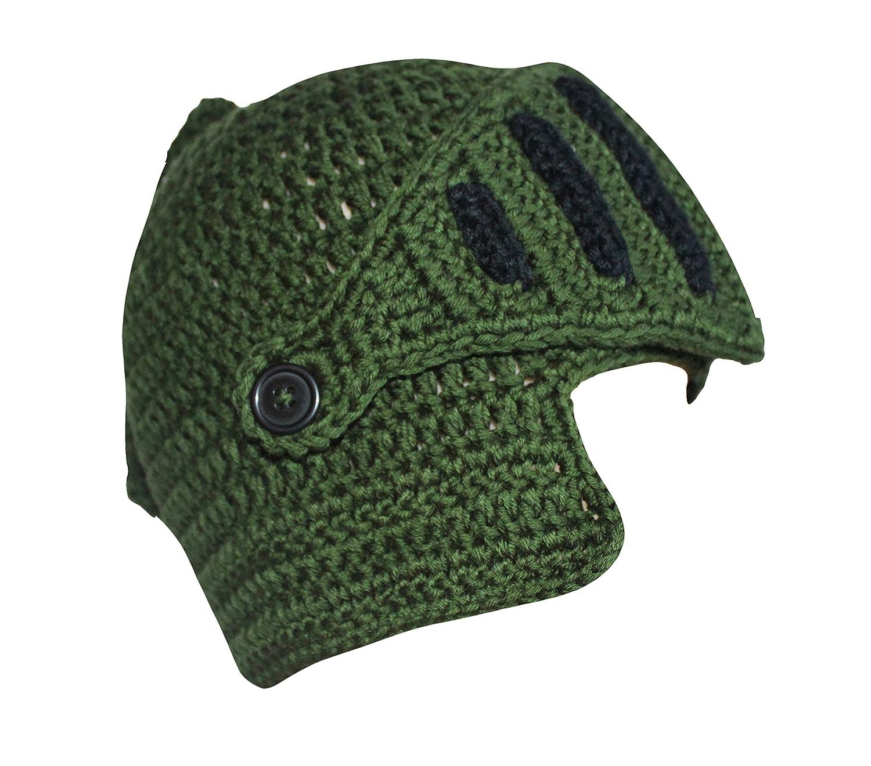 bba689f85e1 Amazon.com  Roman Knight Helmet Visor Cosplay Knit Beanie Hat Cap Wind Mask  (Free Size