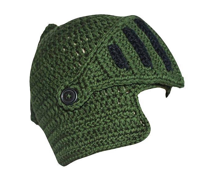 7bba3baf3b2 Roman Knight Helmet Visor Cosplay Knit Beanie Hat Cap Wind Mask (Free Size