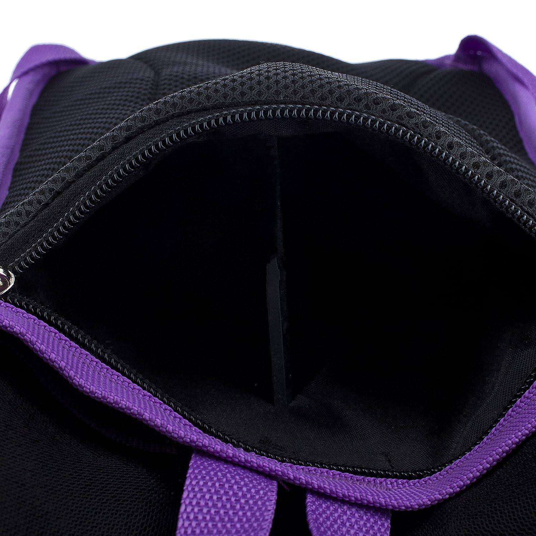 -Purple Camouflage Rubber Faux Leather Geometric Design Carnival Inc. Dan-Pak Hydration Pack 2l-Campground Camo Purple