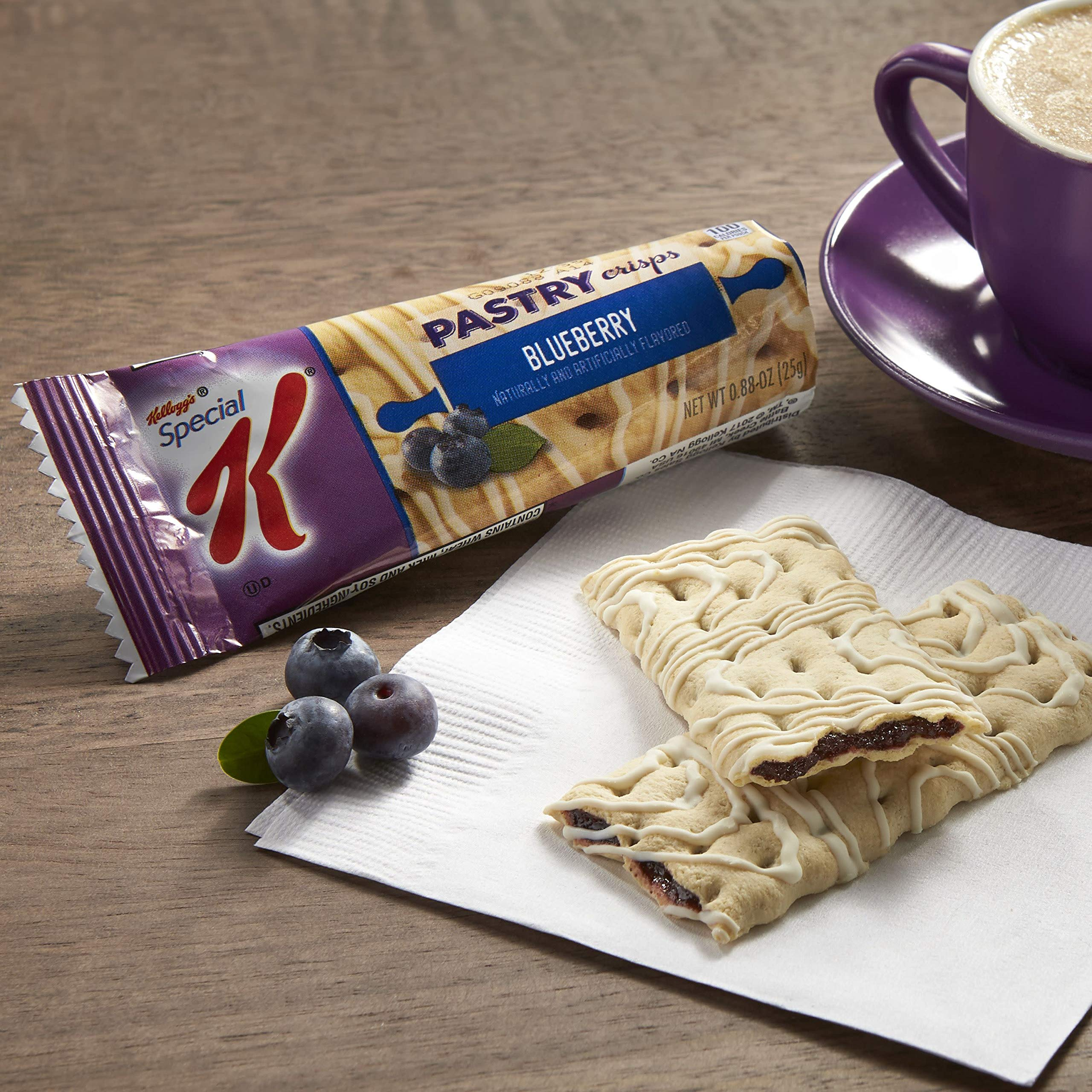 Kellogg's Special K Pastry Crisps, Blueberry, Bulk Size, 162 Count (Pack of 9, 7.92 oz Trays) by Special K (Image #4)