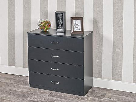 URBNLIVING 4 Or 5 Drawer Wooden Bedroom Chest Cabinet (4 ...