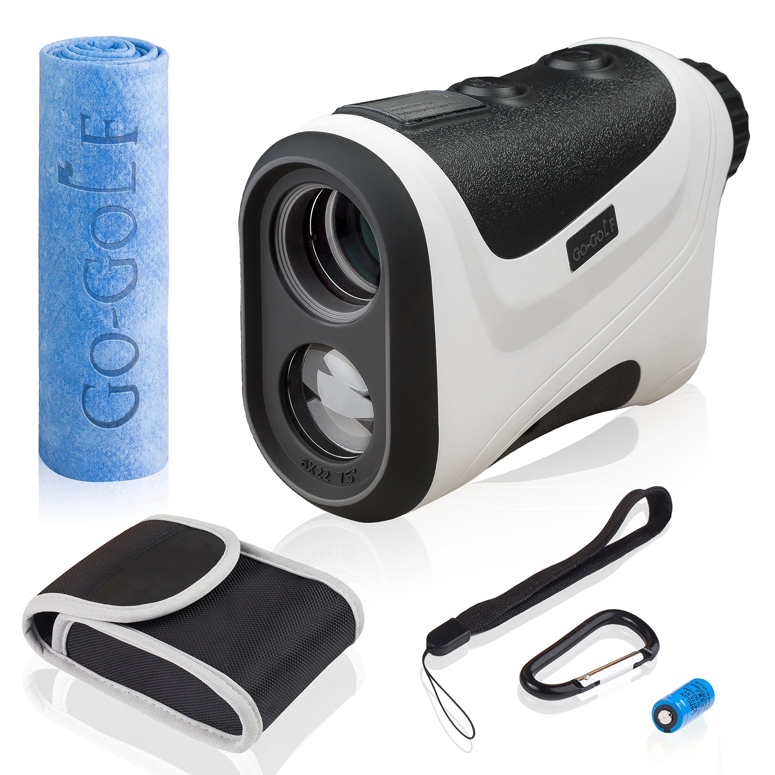 Golf Rangefinder | Laser Range Finder With Pin Sensor & Pulse Tech | Easy To Use, Compact, Accurate & Clear Reading | Golf Binoculars Yardage Rangefinder