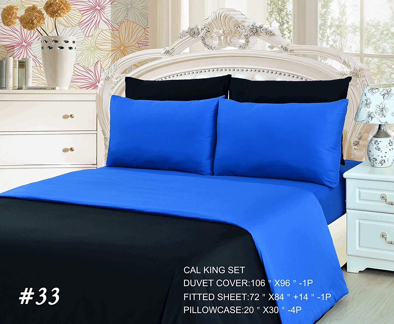 1a6fb7229dd0 Amazon.com: Tache 4 PC Cotton Reversible Solid Superstar Pink & Black Duvet  Cover Set, Twin: Home & Kitchen