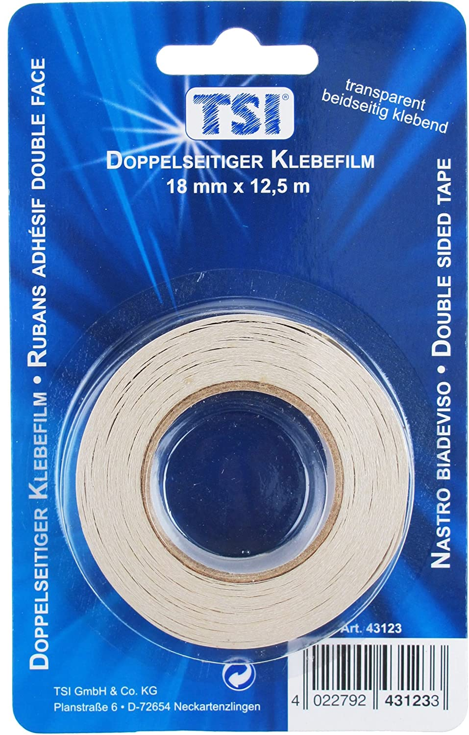 TSI Double Sided Tape    18 MM x 12.5 M