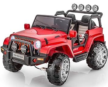 Amazon Com 2 Seats Premium Real 4x4 Jeep Wrangler Style 12v Ride On