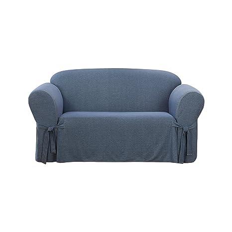 Amazon.com: Sure Fit Denim funda para sofá, índigo: Home ...