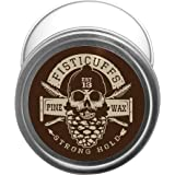 Fisticuffs Pine Scent Strong Hold Mustache Wax 1 Oz. Tin