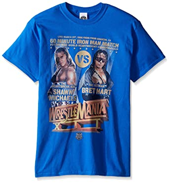 5aaba7ede WWE Men's Shawn Michaels Vs Bret Hart T-Shirt | Amazon.com