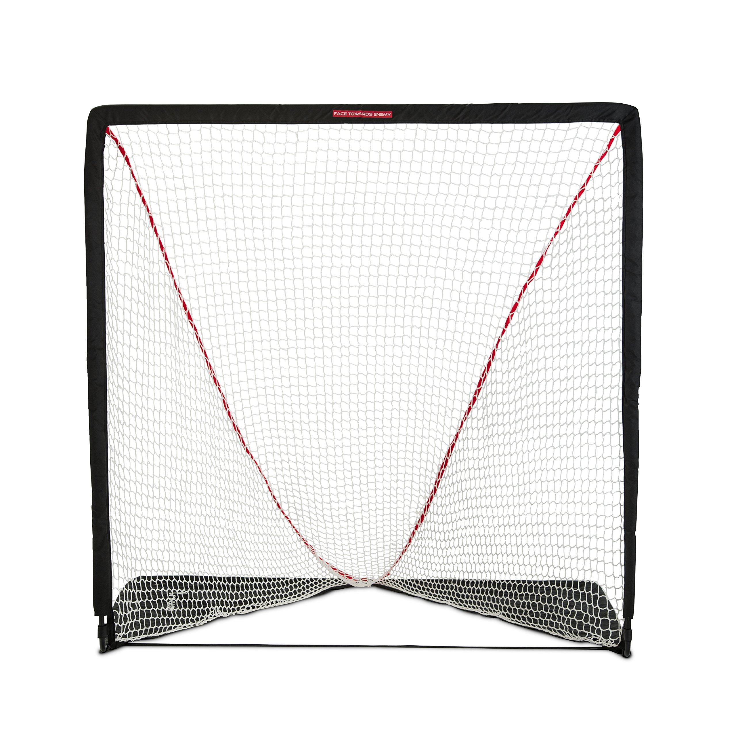 Rukket Rip It Portable Lacrosse Goal | Pop Up Lax Net for Backyard Shooting | Collapsible, Foldable, Travel Goals (6x6) by Rukket Sports
