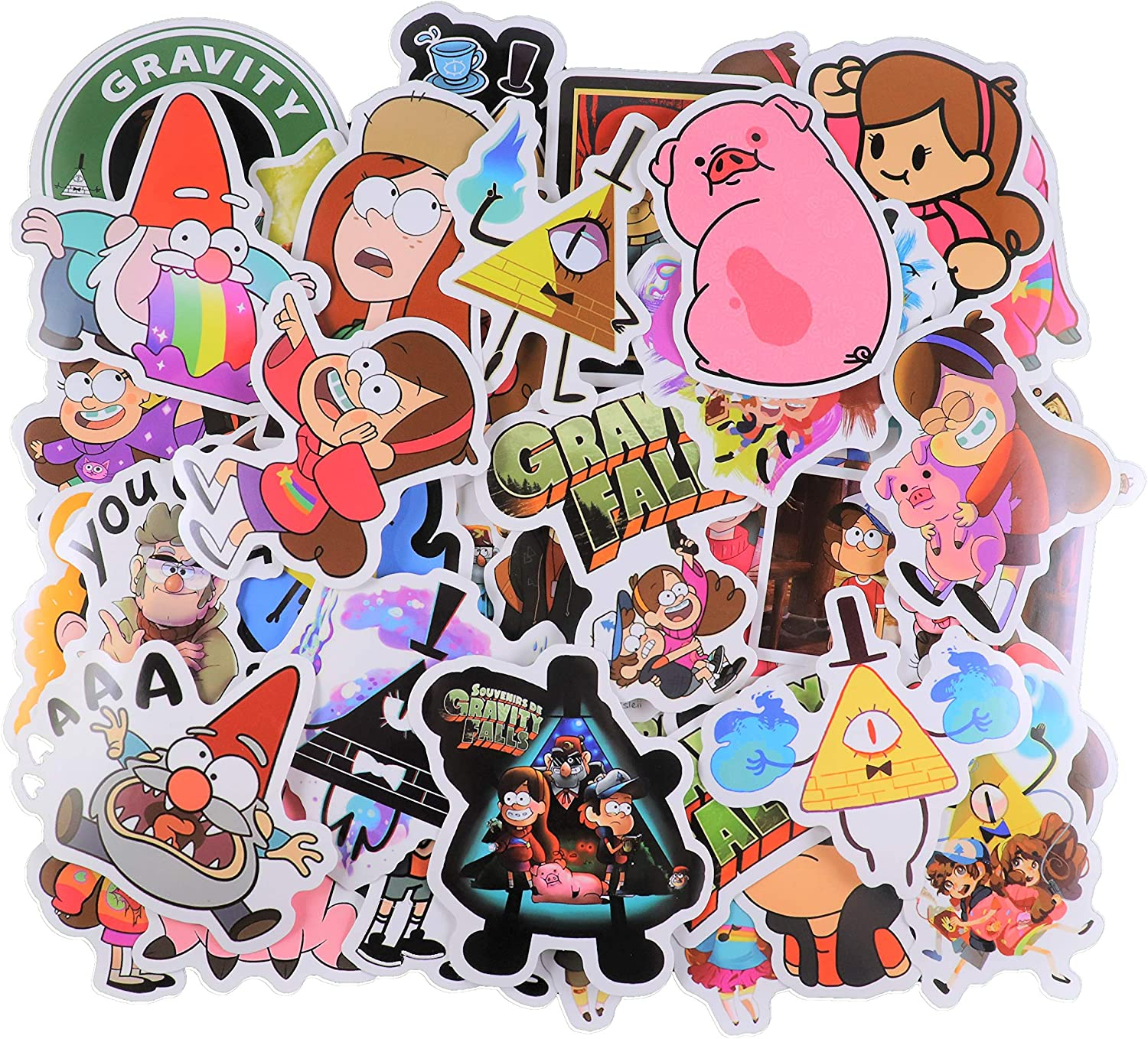 Cartoon Stickers [42pcs] Gravity Falls Theme PVC Waterproof Stickers Decorate Laptop, Notebooks, Car, Bicycle, Skateboards, Luggage