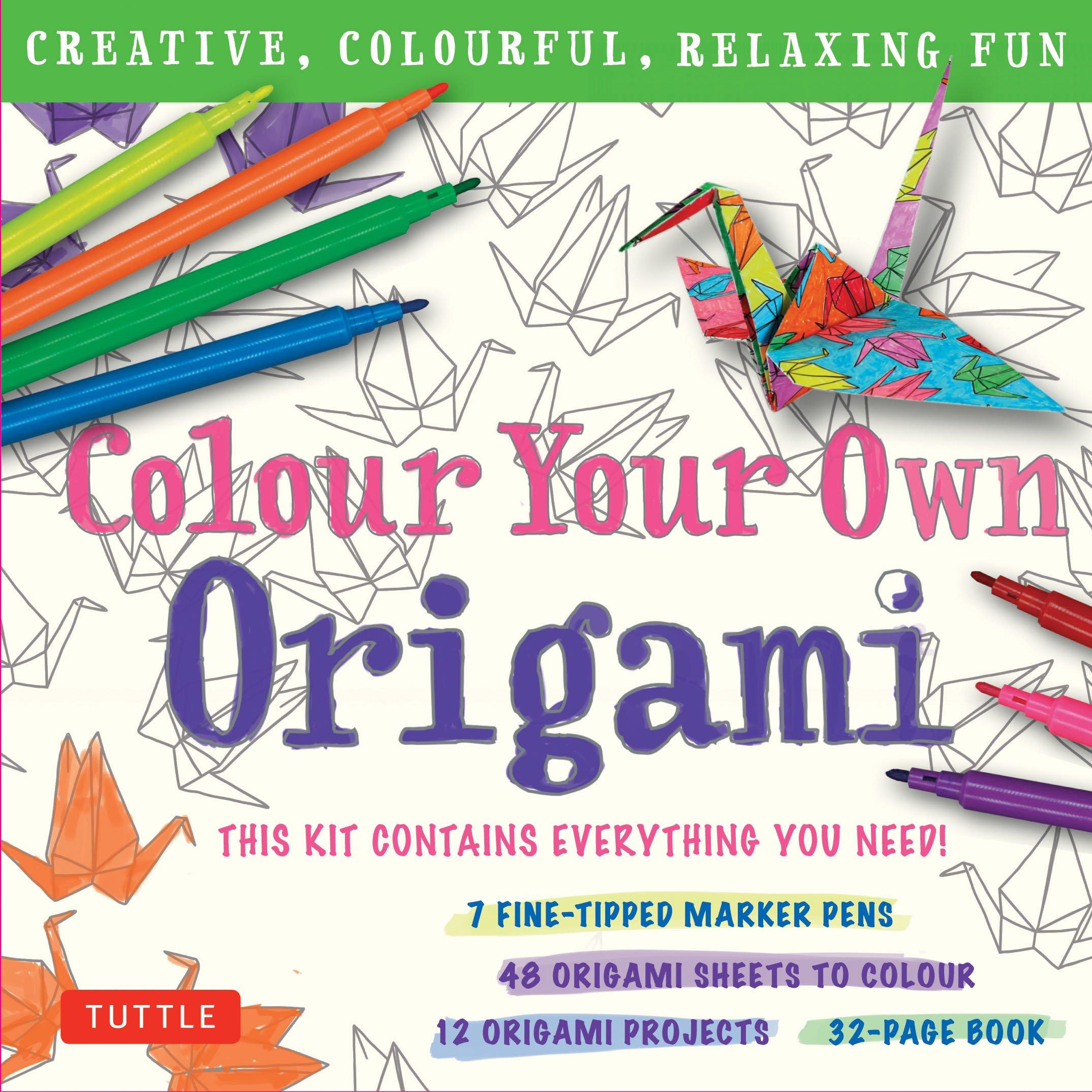 Amazon.com: Colour Your Own Origami Kit (British Spelling ...